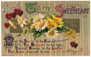 VALENTINE'S DAY CARD, 1910. Printed in Germany, 1910.
