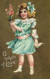 VALENTINE'S DAY CARD. Printed in Germany, 1908.