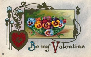 VALENTINE'S DAY CARD. Printed in Germany, 1913.