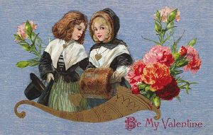 VALENTINE'S DAY CARD. Printed in Germany, c1913.