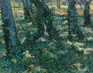 VAN GOGH: UNDERGROWTH. Oil on canvas, Vincent van Gogh, July 1889