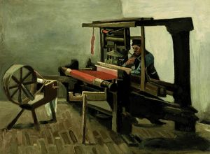 VAN GOGH: WEAVER, 1884. Oil on canvas, Vincent van Gogh, 1884