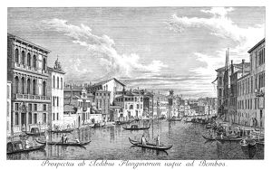 VENICE: GRAND CANAL, 1735. The Grand Canal in Venice, Italy, looking east