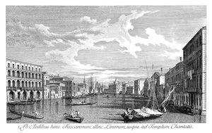 VENICE: GRAND CANAL, 1735. The Grand Canal in Venice, Italy looking south