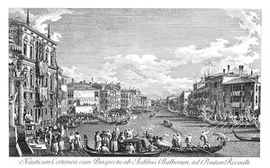 VENICE: GRAND CANAL, 1735. A regatta on the Grand Canal in Venice, Italy. Engraving