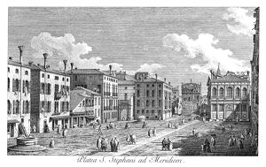 VENICE: STEFANO, 1735. Campo San Stefano in Venice, Italy,(formerly named after
