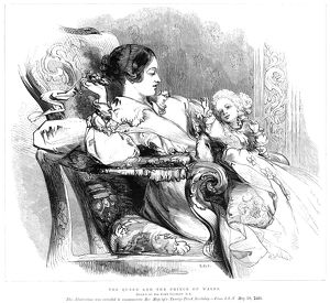 VICTORIA (1819-1901). Queen of Great Britain, 1837-1901. With the infant Prince of Wales