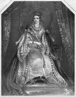 VICTORIA (1819-1901). Queen of Great Britain, 1837-1901. Engraving, c1839