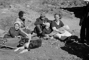 VIRGINIA: FAMILY, 1935. Dicee Corbin with some of her children, in Shenandoah National