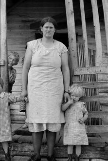 VIRGINIA: FAMILY, 1935. A settler family near Old Rag Mountain in Shenandoah National Park