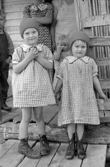 VIRGINIA: GIRLS, 1935. Two young sisters at Old Rag Mountain, Shenandoah National Park