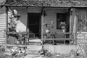 VIRGINIA: HOME, 1935. Home of Bailey Nicholson in Shenandoah National Park, Virginia