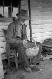 VIRGINIA: POSTMASTER, 1935. The postmaster at Old Rag Mountain, Shenandoah National Park