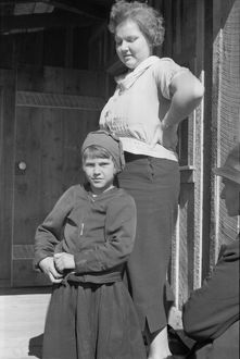 VIRGINIA: SCHOOLTEACHER. A schoolteacher and student at Corbin Hollow, Shenandoah