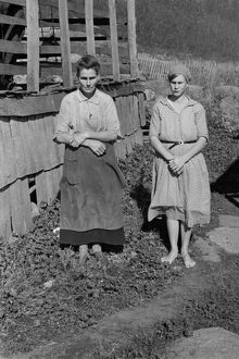 VIRGINIA: WOMEN, 1935. Two women on a farm in Shenandoah National Park, Virginia