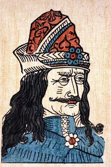 VLAD III (1431-1477). Known as Vlad the Impaler. Prince of Wallachia. German woodcut