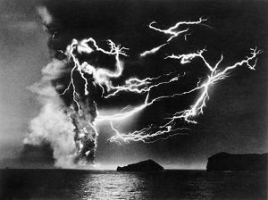end world/volcanic lightning 1963 lightning clouds surtsey