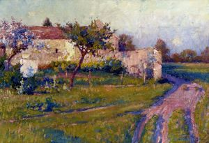 VONNOH: SPRING/FRANCE, 1890. Robert William Vonnoh: Spring in France. Oil on canvas, 1890.