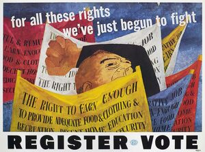 VOTER REGISTRATION POSTER. A Congress of Industrial Organization sponsored voter