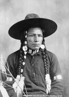 WASCO MAN, 1903. Wasco man photographed at The Dalles, Oregon, by D.D. Wilder, 1903