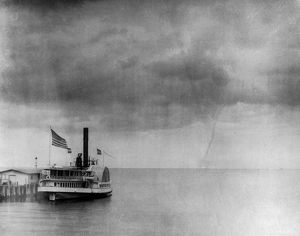 WATERSPOUT, 1896. A waterspout over Vineyard Sound off Martha's Vineyard, Massachusets