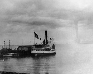 WATERSPOUT, 1896. A waterspout over Vineyard Sound off Martha's Vineyard