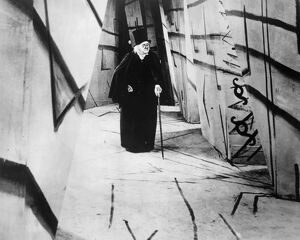 Werner Krauss in the title role of the 1919 motion picture 'The Cabinet of Dr