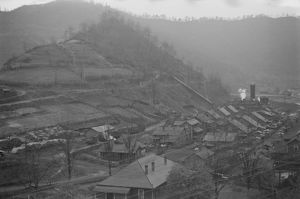 WEST VIRGINIA: KIMBALL, 1935. An aerial view of the town of Kimball in southern West