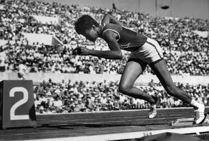 WILMA RUDOLPH (1940-1994). American track and field athlete, photographed at the