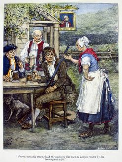 bars taverns saloons/wood engraving george henry boughton late 19th