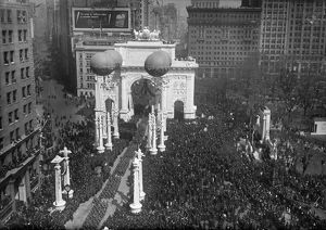 WORLD WAR I: 27TH PARADE. Victory parade for the 27th Division, New York City. Photograph