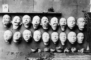 WORLD WAR I: MASKS, 1918. Masks showing the work done by Anna Coleman Ladd of the