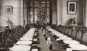 WORLD WAR I: TRIANON HOTEL. Great Hall of the Trianon Palace Hotel, where the competed