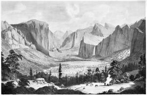 YOSEMITE VALLEY, 1855. 'The Great Yo-semite Valley.' View from Inspiration Point