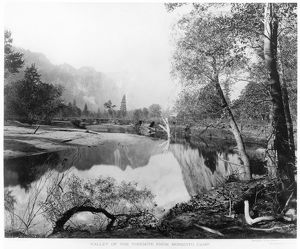 YOSEMITE VALLEY, 1872. A view of the Yosemite Valley in California, from Mosquito Camp