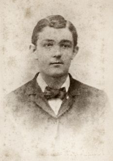 YOUNG MAN, c1880. Portrait of a young man